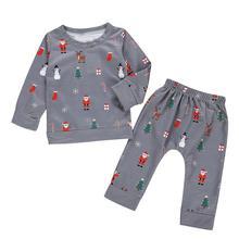 Г.; осенняя одежда для новорожденных девочек с героями мультфильмов; рождественские плотные топы и штаны; пижамы; одежда для сна; Рождественская одежда для малышей
