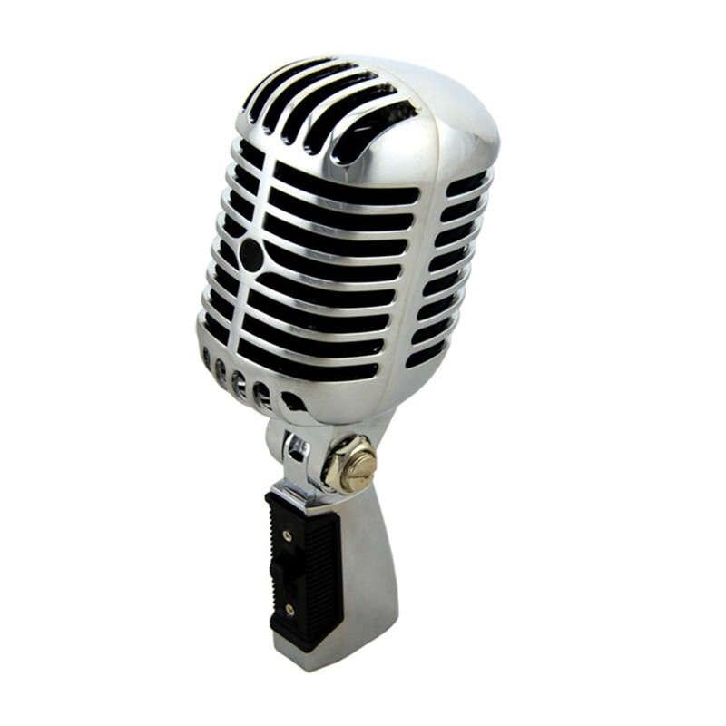 Professionnel filaire Vintage classique Microphone bonne qualité dynamique mobile bobine Mike de luxe en métal Vocal vieux Style Ktv micro Mike