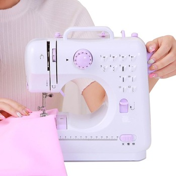 Multi-function Mini Sewing machine Hand sewing Portable clothes toys sewing Handwork For children sewing DIY and Create фото
