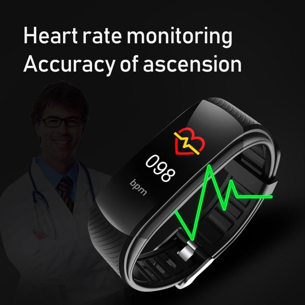 C5S Bluetooth Водонепроницаемый монитор сердечного ритма во время сна фитнес спортивные смарт-браслет многофункциональный сенсорный Экран смарт-браслет 4