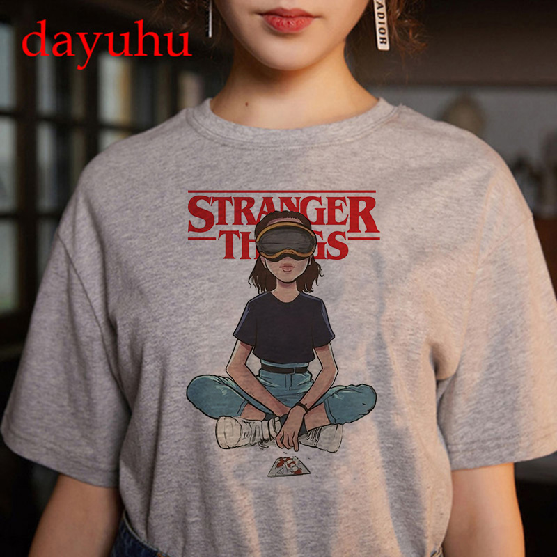 90s Stranger Things T Shirt Vintage Women Tshirt New Harajuku Ulzzang Graphic Funny T-shirt Tops Tee Summer Streetwear Female