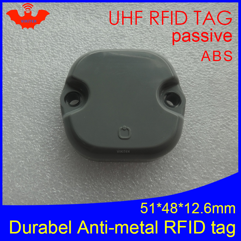 UHF RFID Anti-metal Tag 915mhz 868mhz Impinj Monza4QT EPCC1G2 6C 51*48*12.5mm Pallet Durable ABS Smart Card Passive RFID Tags