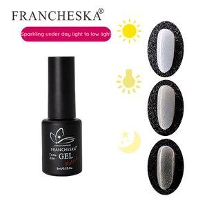 Nail Starlight Opal Gel Nail Art FRANCHESKA Uv Phototherapy Nail Polish New Flash Powder 8ml TSLM1