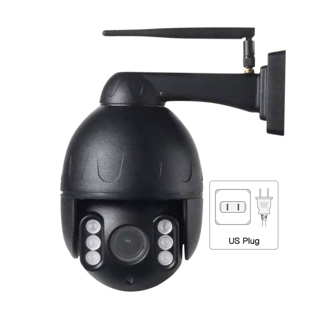2M Pixel Black Wireless IP Speed Dome Camera Wifi HD 1080P PTZ Outdoor Security CCTV Auto Focus 5X Zoom
