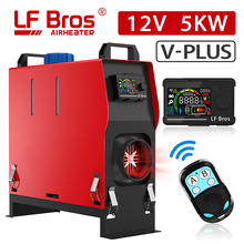 Lf Bros Verticale Parking Heater Plus 5KW Alles In Een Auto Heater 12V Red Air Diesels Heater Met Lcd knop Schakelaar Afstandsbediening