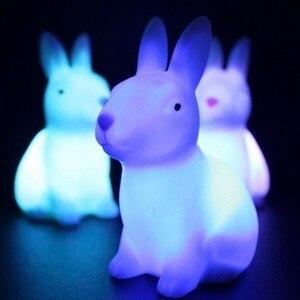 Светодиодный ночник с изображением лисы, слона, животного, для дома, спальни, рабочего стола, 7 меняющихся цветов, милый светодиодный светиль...