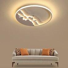 Creativity LED chandeliers ceiling Black/White Modern Chandelier For Bedroom Living Room lustre led moderne Lighting Fixtures