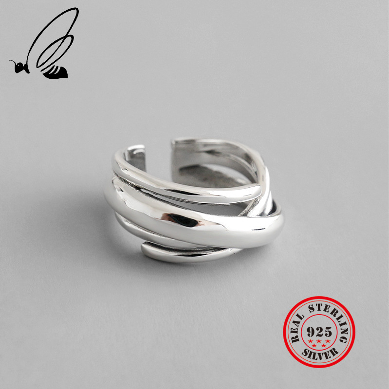 925 Sterling Silver Rings For Women Vintga Resizable Handmade Bague Femme Argent Accesorios Mujer Moda 2019 Fine Jewellery Party