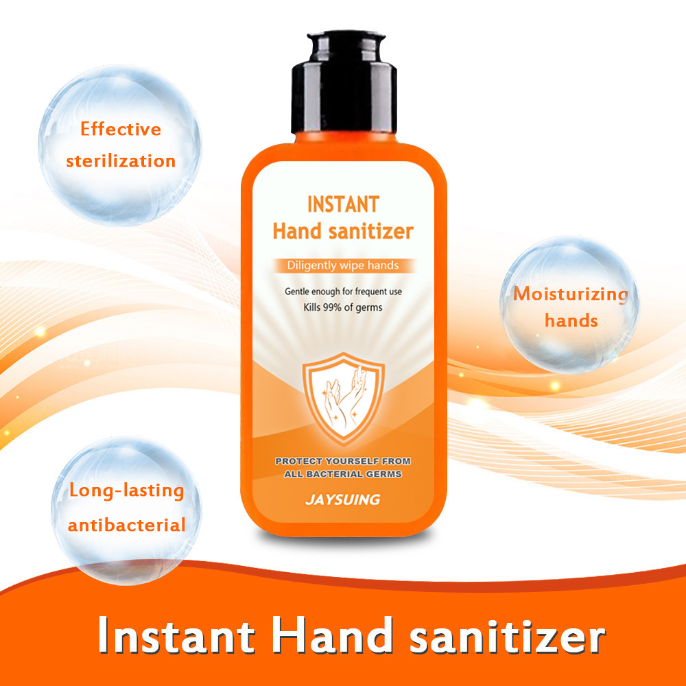 2pcs 100ml Portable Sterilization Disinfection Gel Household Disposable Hands-Free Water Disinfection Hand Sanitizer Fast