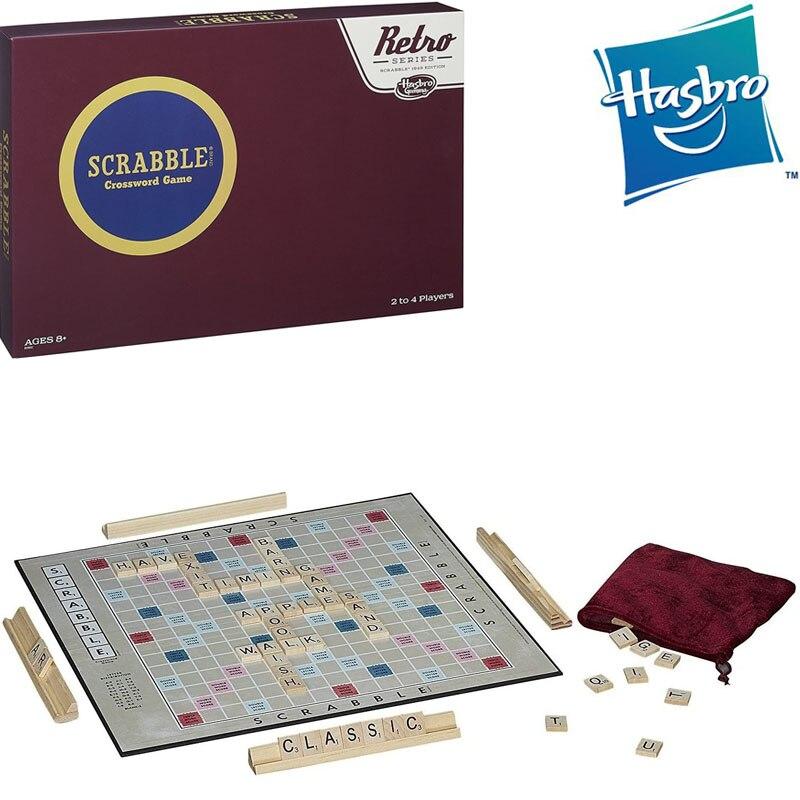 Оригинальная Hasbro классический царапают Ретро кроссворд серии английская версия Семья вечерние карты; Настольные Игры Подарочные игрушки для детей и взрослых 1