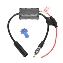 Universal 12V Car Stereo Radio Signal Booster AM/FM Amplifier Antenna Kits Auto Aerial Replacement universal car fm am dab antenna aerial splitter adapter cable smb converter car radio active 88 108mhz