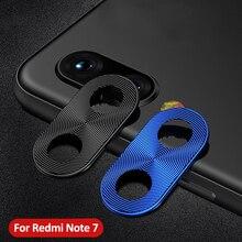 Pour Redmi Note 7 caméra lentille protecteur anneau placage aluminium pour Xiaomi Redmi Note 8 Pro Note 8T caméra couverture anneau Protection