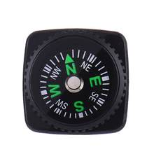 Compass Accessory For Umbrella Survival Bracelet 20MM Liquid Filled Watchband Compass Button Watch For Band Wrist Strap Outdoor(China)