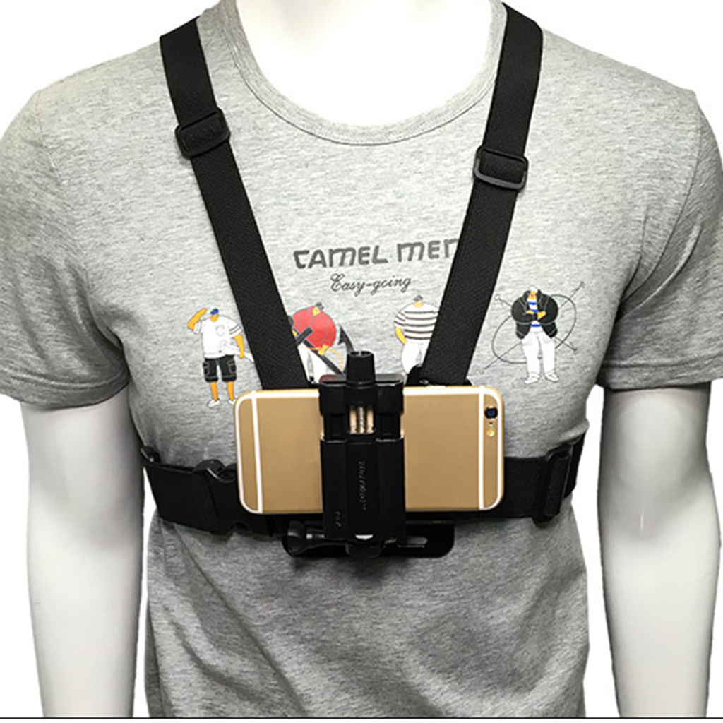 Mobile Phone Chest Mount Harness Strap Holder Cell Phone Clip Action Camera For Samsung IPhone Plus Etc