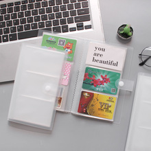 1pc 120 Slots ID Holders PP Matte Business Card Book Large Capacity Business Card Clip Ticket Collection Book Card Stocks