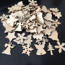 Hot Sale Christmas decoration wood chips more than 10 styles New creative pattern Random style hair High Quality PGM