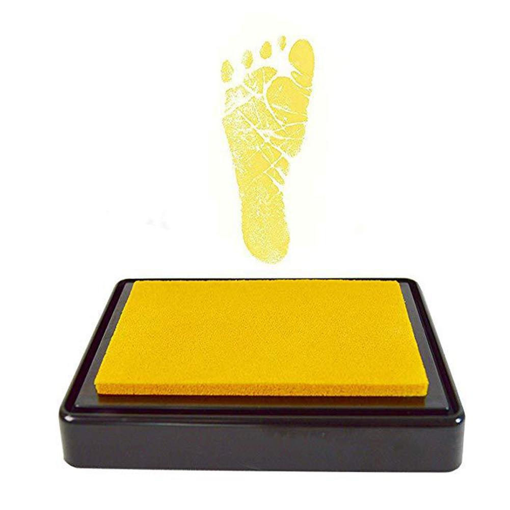 Newborn Photo Box Ink Pad Gifts Souvenir Baby Shower Birthday Keepsakes Printing Painting Footprint With Paper Handprint