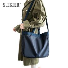 S.IKRR Waterproof Nylon Travel Bag Duffle Bag Women Short-distance Big Bag Hand Luggage Organizer Bags Portable Folding Bags New