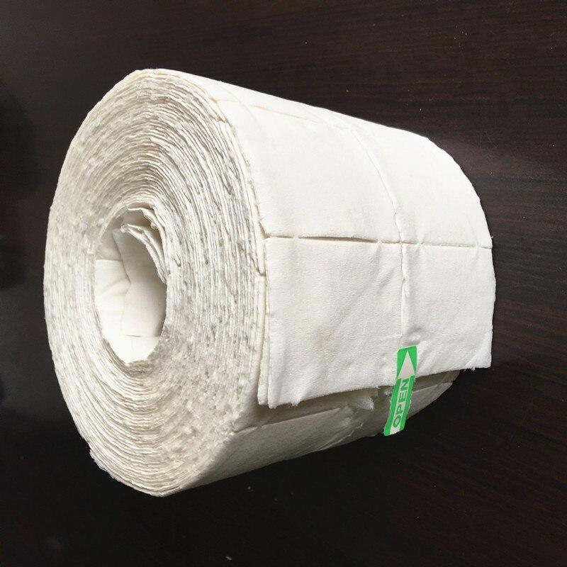 500pcs жидкость для снятия лака безворсовые Pad акрилового геля хлопчатобумажные салфетки советы для УФ-гель лак для ногтей маникюр, чистящие с...