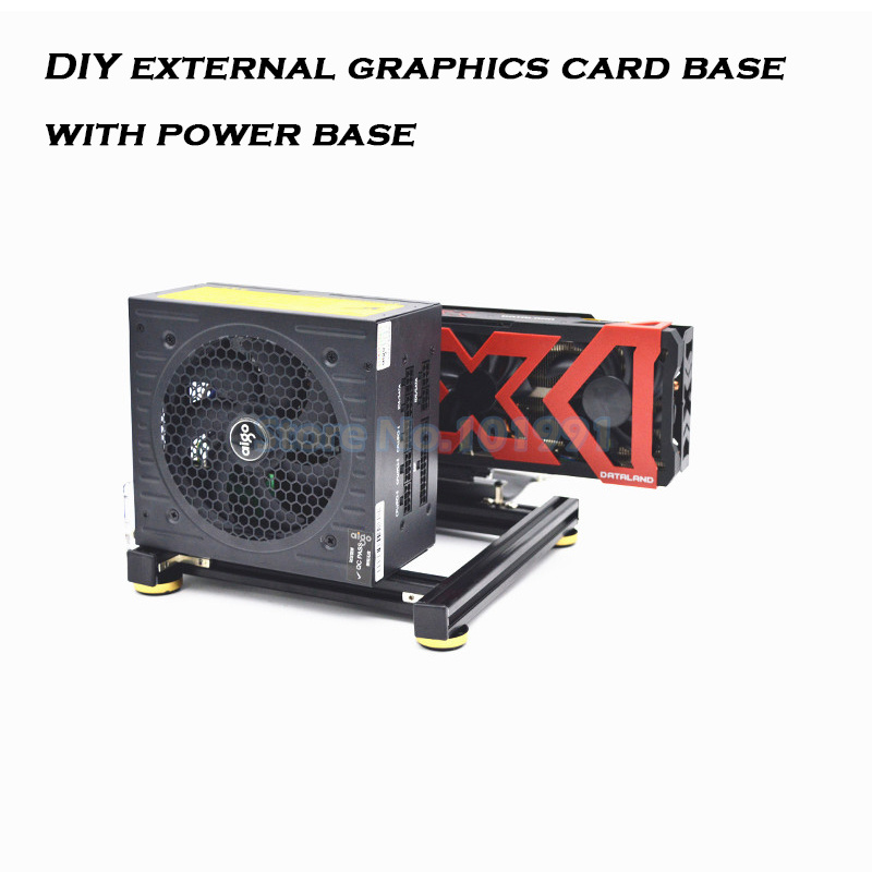 Graphics Card Holder DIY External Graphics Card Base With Power Base For ATX SFX PSU  Aluminum