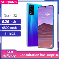 Global Version SOYES Note23 Moblie Phone Android 6.5Inch 5+13MP Camera Cell phones 2+16GB 2 SIM Card Face Unlocked Smartphone