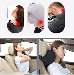 Image 3 - Soft Car Pillow Lumbar Support Cushion Car Seat Cushion Memory Foam Polyester Backrest Pad Orthopedic Relieve Pain Pillow