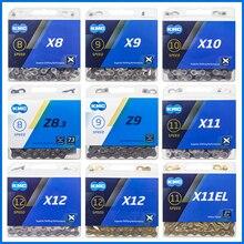 KMC cadenas de bicicleta de montaña, cadenas de 6, 8, 9, 10, 11 y 12 velocidades, 116 eslabones, X8/X9/X10/X11.93 27, 30 velocidades
