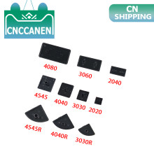 5/10/20/50PCS Black Plastic End Cap Cover Plate Endcap for 2020 2040 3030 3060 3030R 4040 4080 4040R 4545 EU Aluminum Profile