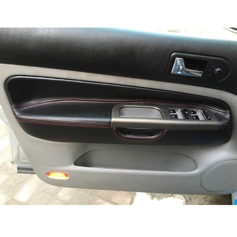 4 Doors Car Microfiber Leather Door Armrest Cover For VW Golf 4 MK4 Bora Jetta 99 - 2005 1PC Front Door Armrest Panel Cover Trim