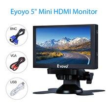 Eyoyo 5 inch Mini HDMI Monitor 800x480 Car Rear View TFT LCD Screen Display With BNC VGA AV HDMI Input Built-in Speaker