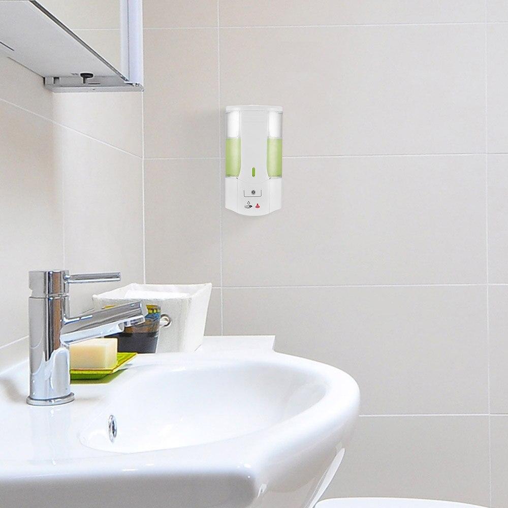 H5f3f9c81dab743b99c47955eb2fdeed3Z 400ml Automatic Soap Dispenser Touchless Sensor Hand Sanitizer Shampoo Detergent Dispenser Wall Mounted For Bathroom Kitchen