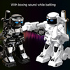 777-615 Battlefield רובוט שלט רחוק אנלוגי צליל אור גוף חושי אגרוף ותנועה רובוט צעצוע דגם