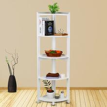 5 Tier Corner Bookcase Bookshelf CD Storage Wall Rack Display Shelves Organizer