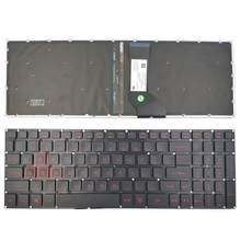 New For Acer Nitro 5 AN515-51 N17c1 AN515-52 AN515-53 Series Laptop Keyboard US Black With Backlit Without Frame(China)