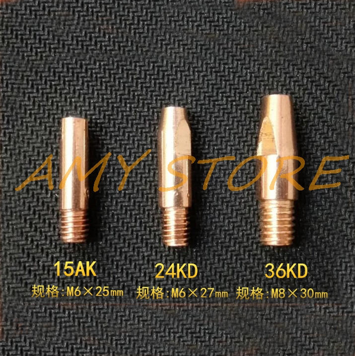 10/20Pcs MB15AK 24KD 36KD M6 M8 Copper MIG/MAG Soldering Welding Torch Contact Tip Gas Nozzle 0.8 1.0 1.2 1.4 1.6mm Optional