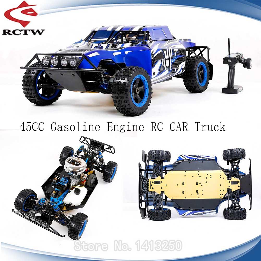 450 45CC 2T Gasoline Engine Two 65KG Servo 4WD RC Truck for 1/5 Scale Rovan ROFUN WLT