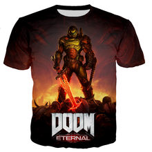 2021 Men/women New Fashion Cool Style 3D Game Doom Eternal Printed T-shirt Casual Harajuku Hip Hop Streetwear Tee Tops