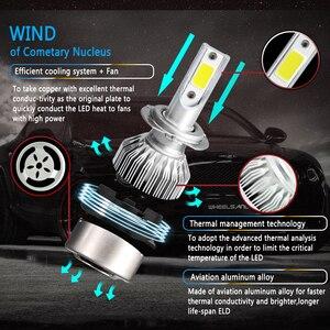 Image 4 - 2PCS H7 H11 H1 H3 COB Car LED Headlight Bulbs H4 Hi Lo Beam 72W 8000LM 6000K Auto Headlamp 9005 HB3 9006 HB4 880 Led Car Light
