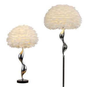 Image 5 - 北欧の高級白羽フロアランプ現代の Led 金属の花のフロア立ちランプリビングルームプリンセスルームのインテリアフロアライト