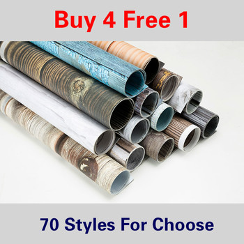 [Buy 4 Free 1] 57X87cm Photography Marbling Backdrop 2 Sided Photo Background Wood Grain Waterproof Backdrops Paper Studio Photo