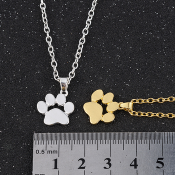 Fashion Cute Pets Dogs Footprints Paw Chain Pendant Necklace Necklaces & Pendants Jewelry for Women long necklace 3