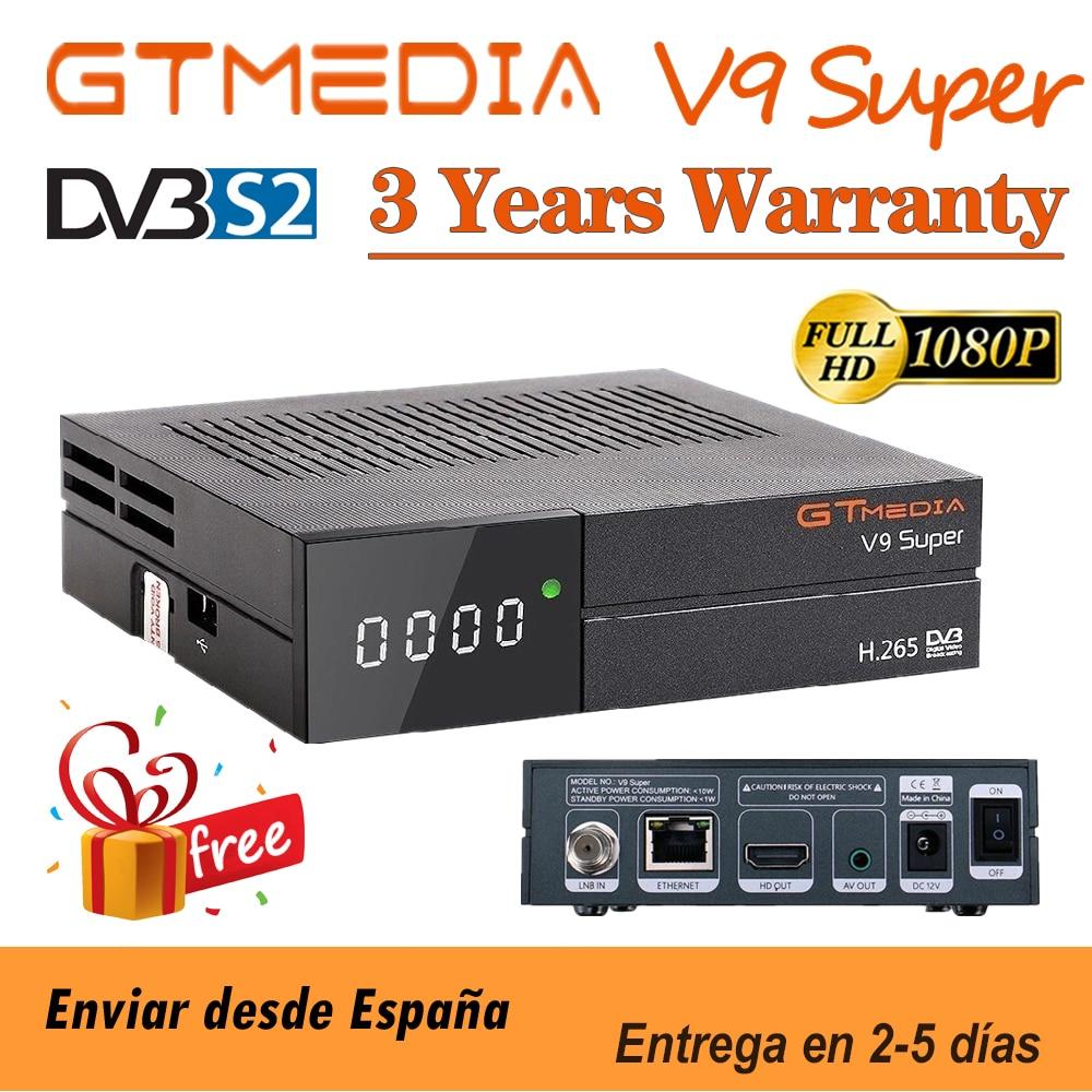 Лучший декодер 1080P GTmedia V9, супер DVB-S2 satellite H.265, такой же, как GTmedia V8X V8 Nova Freesat V9, супер без приложения