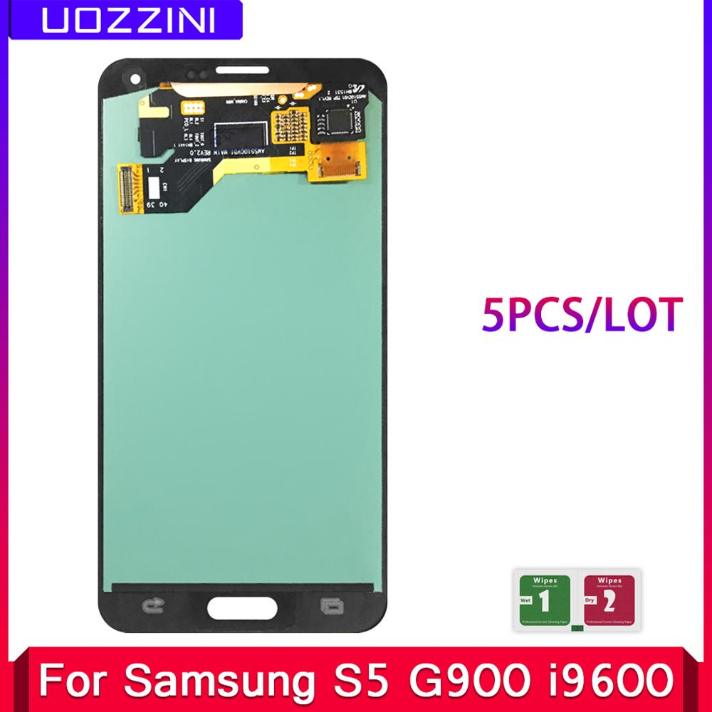 5 Pcs/Lot Super AMOLED Lcds For Samsung Galaxy S5 SM-G900 G900 i9600 G900R G900F G900 LCD Display Touch Screen Assembly