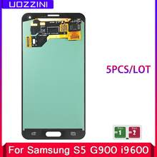 5 unids/lote Super AMOLED Lcds para Samsung Galaxy S5 SM-G900 G900 i9600 G900R G900F G900 pantalla táctil LCD(China)