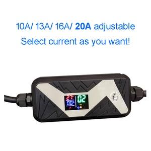 Image 5 - Электромобиль EVSE автомобильное зарядное устройство для Nissan Leaf для Ford type 2 EV зарядное устройство Schuko Plug chademo 20A IEC 62196 2