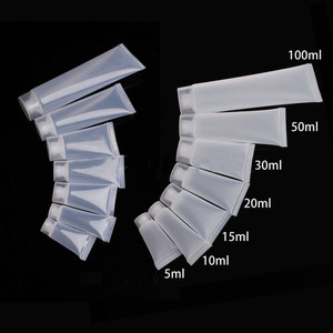 100pcs 20/30/50/100 ml Travel Empty Cosmetic Tube Squeeze Facial Cleansing Container Hand Cream Bottle Lotion Sample Pot Gel Box