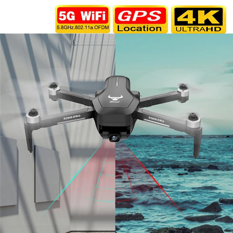 Drone 4k Camera Tf-Card Wifi Rc-Distance-1.2km Sg906-Pro Supports Mechanical-Gimbal Flight-25-Min title=