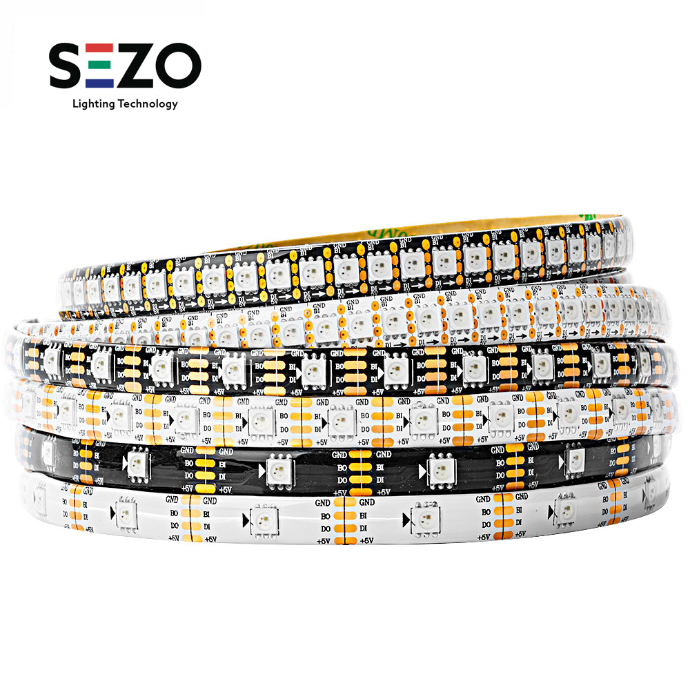 WS2812B WS2813 WS2815 SK6812RGBW SK9822 WS2811 1m 5m 30/60led/m RGB LED Strip Individually Addressable Tape Light IP30/65/67