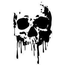 11.6CM*18.2CM Interesting Skull Decoration Car Stickers Black Vinyl S9-2085