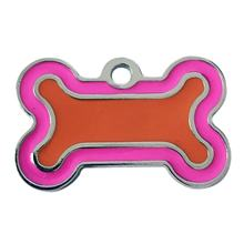 40mm Zinc Alloy Bone Shape Pet ID Tag Identification Personalized Pet Accessories Dog Cat ID Tag Collar Pendant(China)
